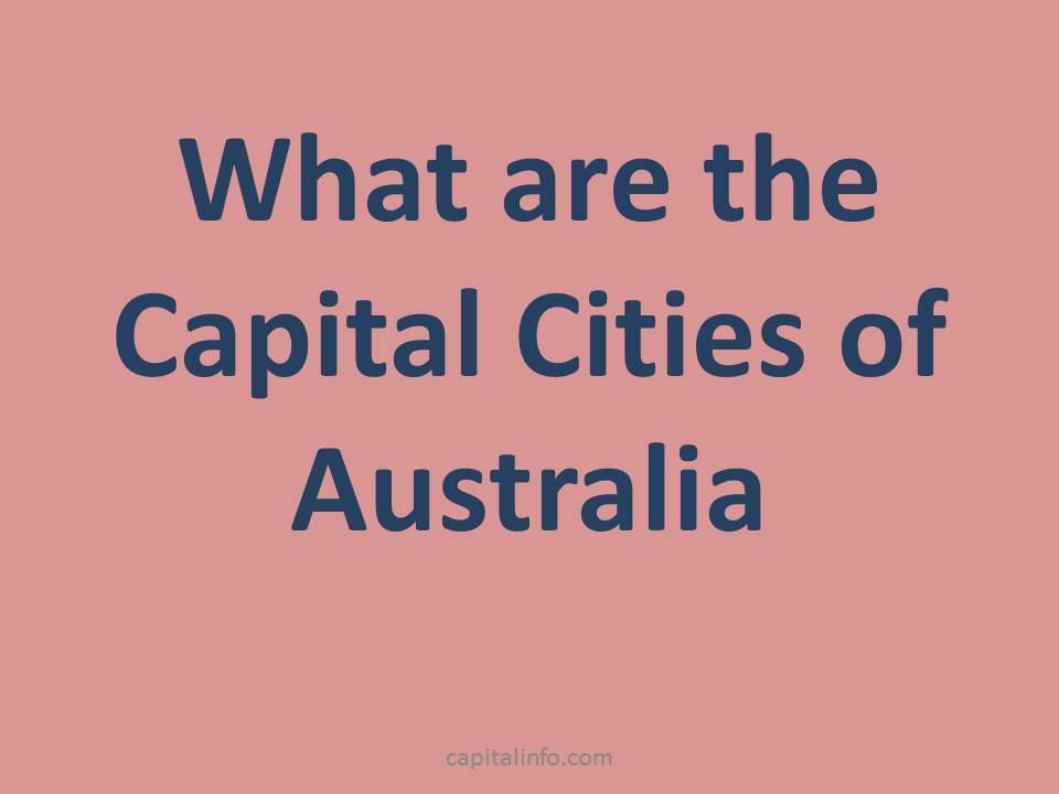 capital of australia, south australia, western australia