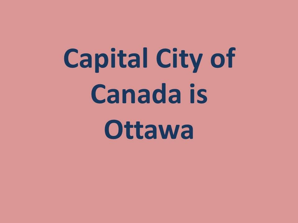 capital of canada