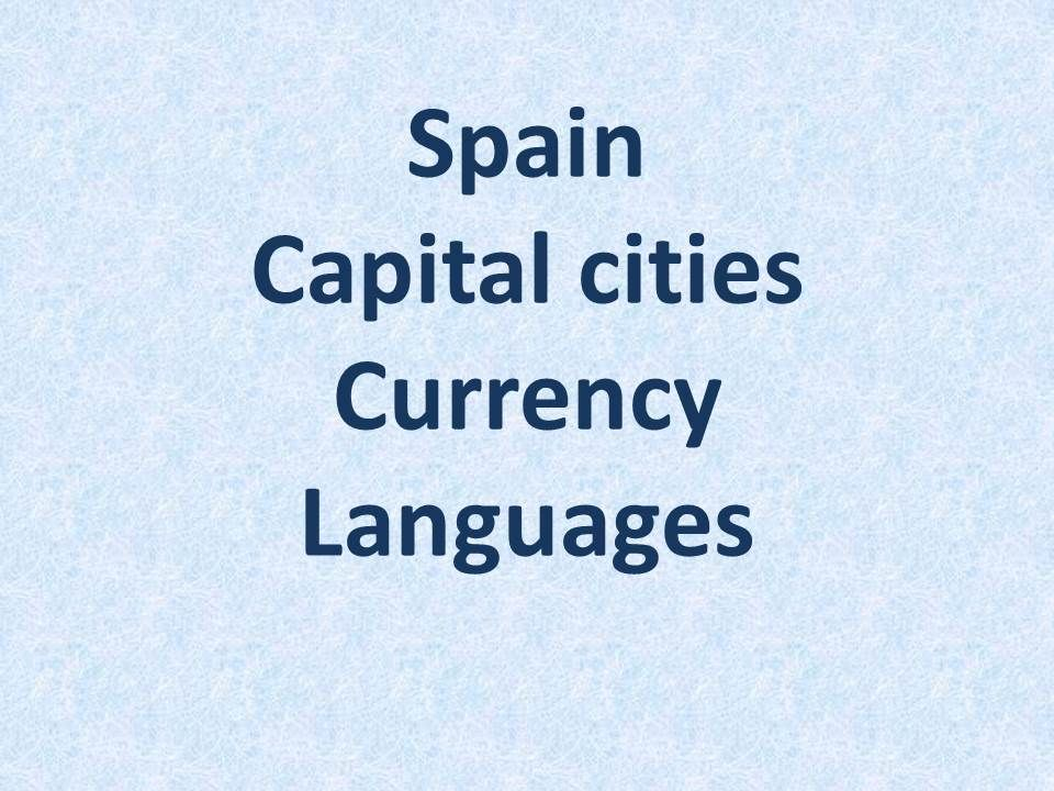 capital of spain currency languages