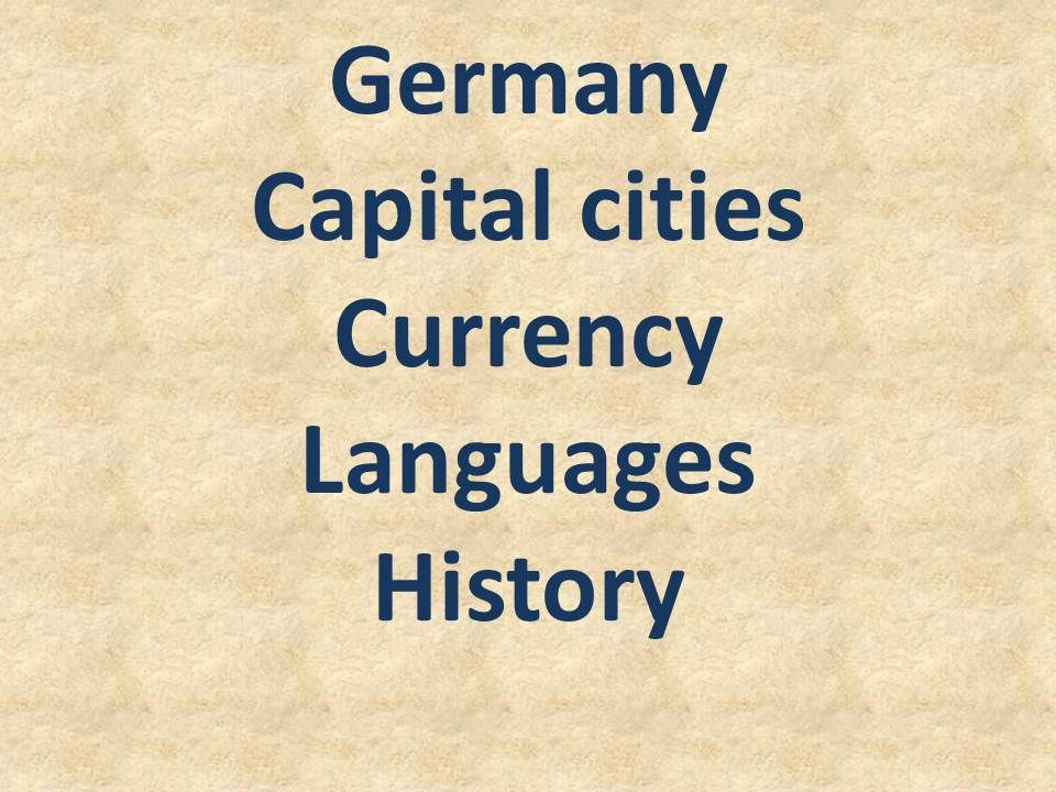 capital of Germany before berlin