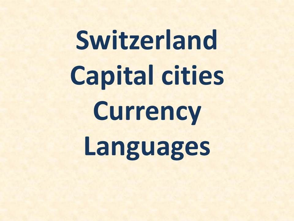 capital of switzerland and currency language