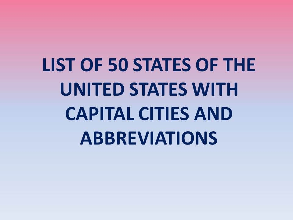 50 states of usa list with abbreviations