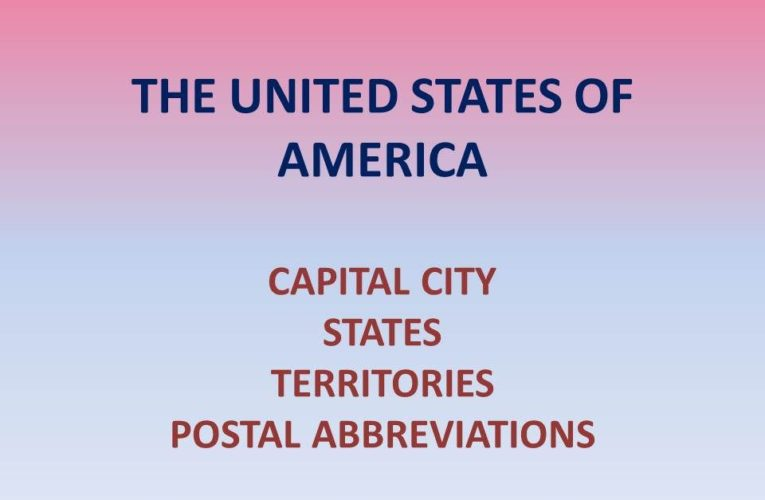 Capital of United States of America: List of US States