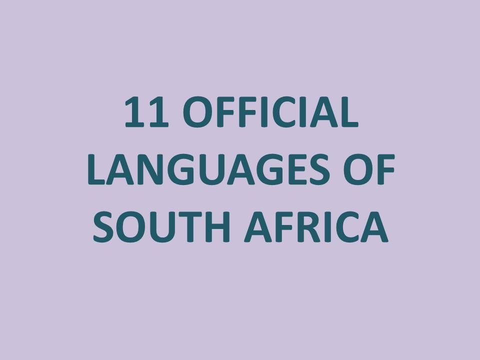 11 official languages of south africa