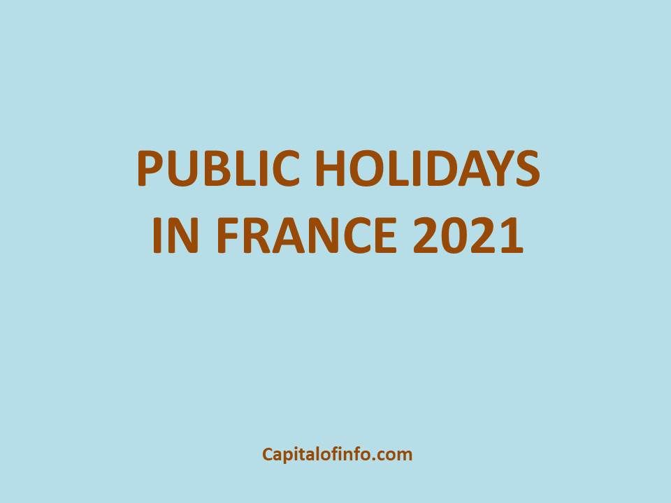 public holidays in France 2021