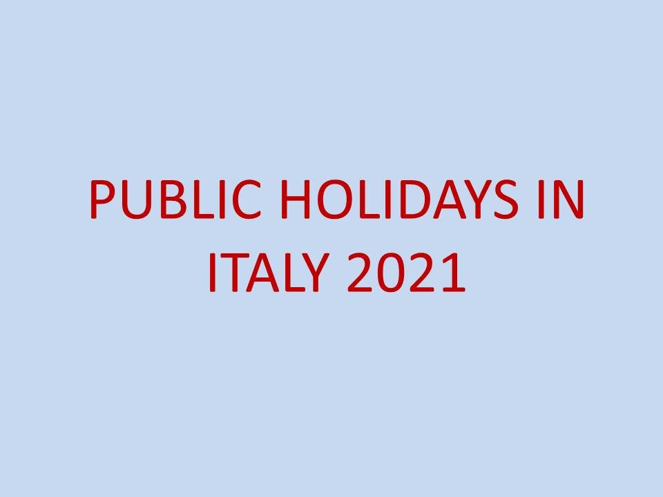 pubic holidays in italy 2021