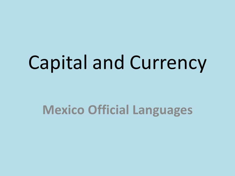 capital of mexico currency