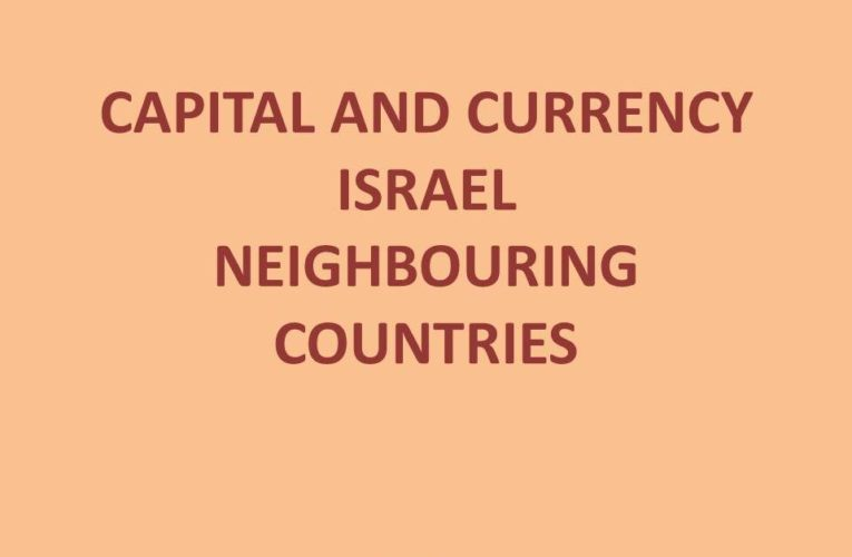 Capital of Israel: Capital and Currency