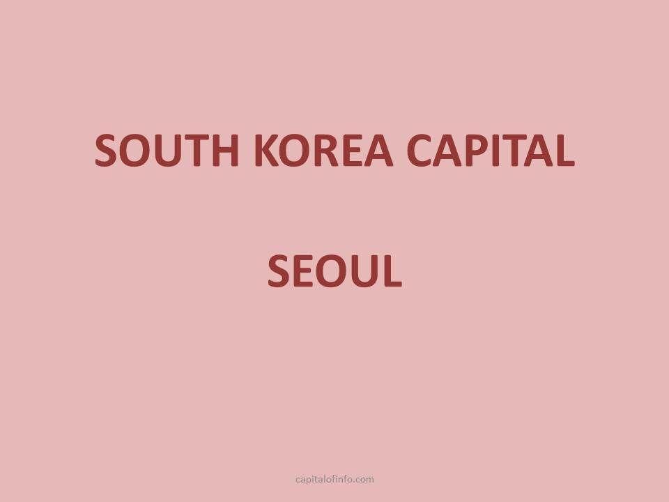 capital of south korea